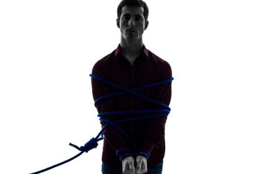 Guy Tied Up With Rope