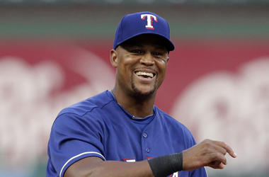 Adrian Beltre, Third Base, Texas Rangers, Uniform, Smile, 2018