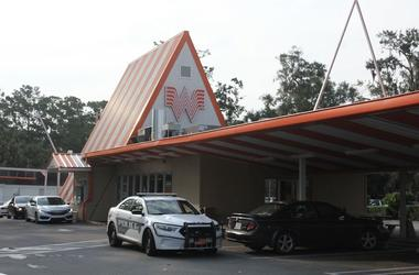 Whataburger, Exterior, Police Car