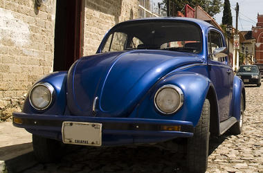 Blue, Volkswagen, Beetle, Streets, Mexico