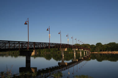 Dallas, White Rock Lake, Pedestrian Bridge