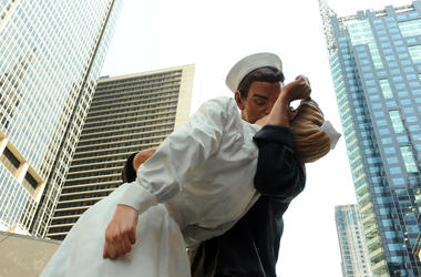 """25-foot sculpture titled 'Embracing Peace"""""""