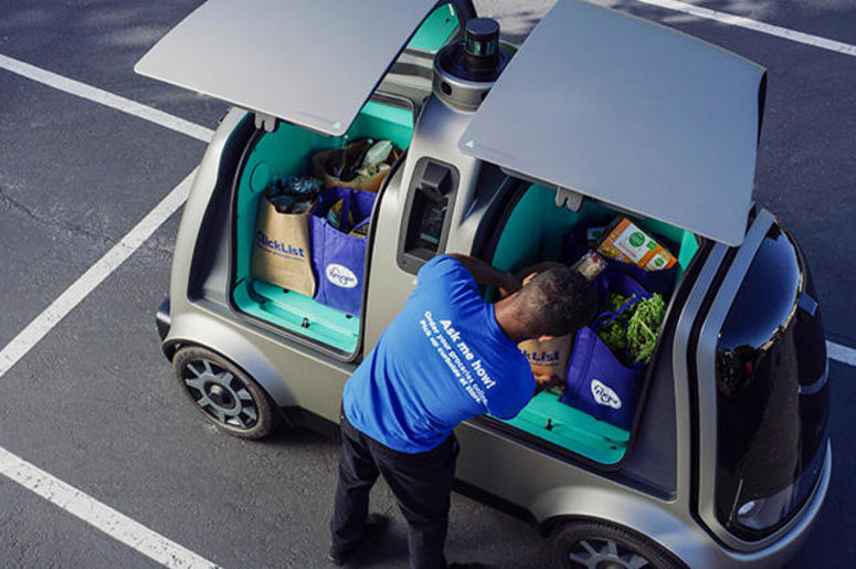 Driver-less Grocery Delivery