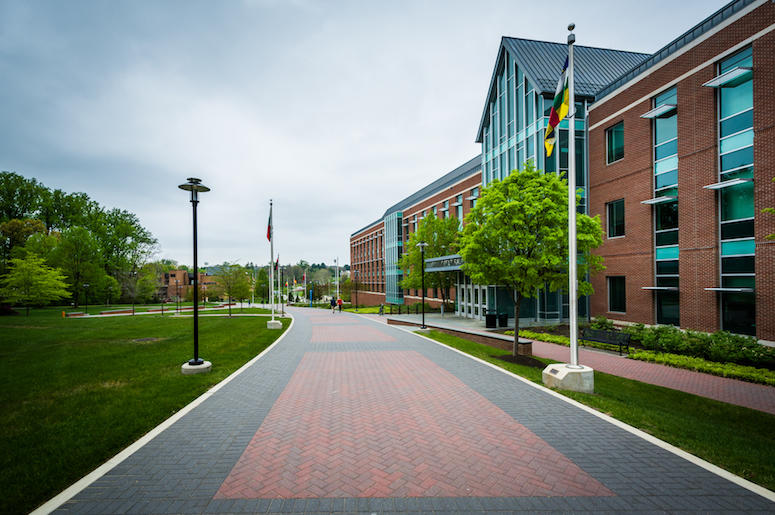 Towson University, Maryland, College Campus, Walkway