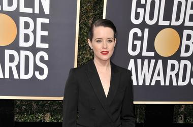 Claire Foy at the 75th Golden Globe Awards held at the Beverly Hilton in Beverly Hills, CA on January 7, 2018