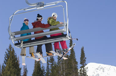 Skiers Thrown Off Chair