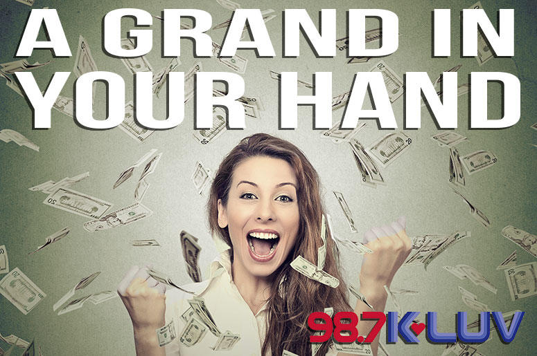A Grand In Your Hand on KLUV