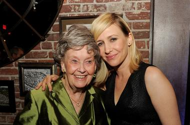 LOS ANGELES, CA - JULY 15: Paranormal investigator Lorraine Warren (L) and actress Vera Farmiga pose at the after party for Warner Bros. 'The Conjuring' at Aventine Restaurant on July 15, 2013 in Los Angeles, California