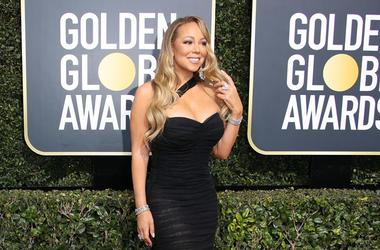 Jan 7, 2018; Beverly Hills, CA, USA; Mariah Carey arrives for the 75th Golden Globe Awards at the Beverly Hilton.