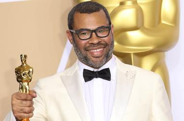 "March 4, 2018; Hollywood, CA, USA; Jordan Peele, winner of the award for best original screenplay for ""Get Out\"", poses in the photo room during the 90th Academy Awards at Dolby Theatr"