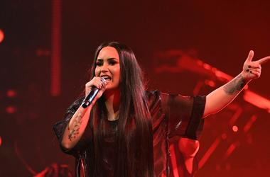 March 30, 2018; Miami, FL, USA; Demi Lovato performs at American Airlines Arena