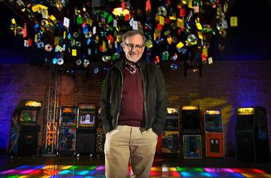 "March 15, 2018 - Steven Spielberg on disco floor for his new movie ""Ready Player One"""