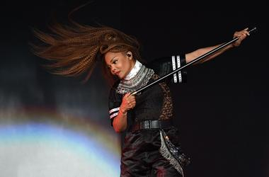 Aug 5, 2018; Miami, FL, USA; Janet Jackson performs at American Airlines Arena