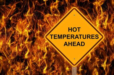 Hot Temperatures Warning Sign