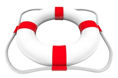 Life Preserver Water Rescue Saver SOS Coast Guard 3d White Red