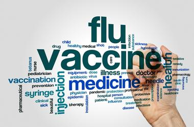 Flu vaccine word cloud