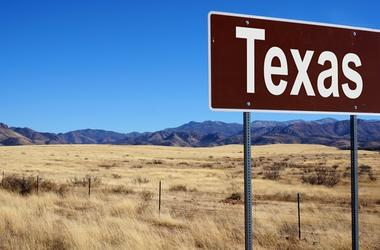 Texas brown road sign