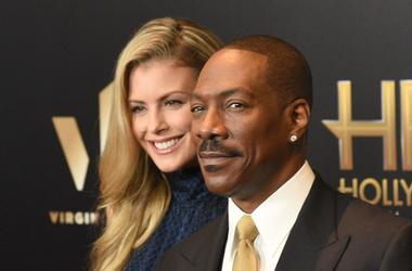Paige Butcher (L) and Eddie Murphy attend the 2016 Hollywood Film Awards at The Beverly Hilton Hotel on November 6, 2016 in Hollywood, California