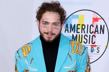 LOS ANGELES - OCTOBER 9: Post Malone at the 2018 American Music Awards at the Microsoft Theatre on October 9, 2018 in Los Angeles, California.