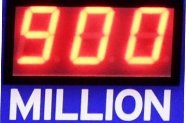 A California Lottery digital board shows the amount up for grabs in the Mega Millions and Powerball lottery at 4 Seasons Handy Mart in Visalia on Wednesday, October 17, 2018