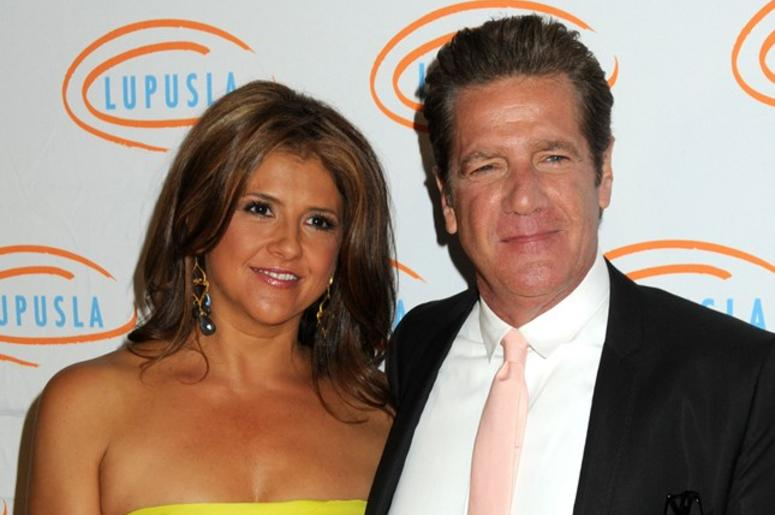 "18 January 2016 - Glenn Frey, guitarist and co-founder of the ""Eagles,"" has died at the age of 67. File Photo: 6 May 2010 - Beverly Hills, California - Glenn Frey and wife Cindy. Lupus LA Orange Ball 2010 held at the Beverly Wilshire Hotel"