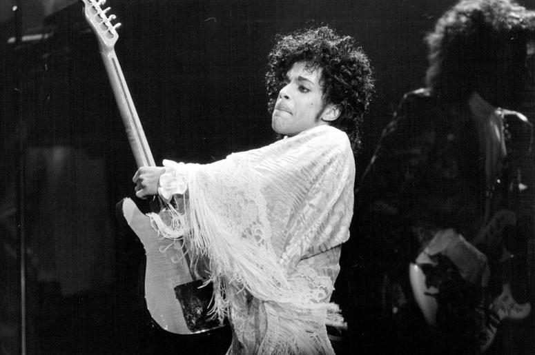 Prince performs on Dec. 25, 1984 at the St. Paul Civic Center in St. Paul, Minn. The artist died on April 21, 2016. He was 57.
