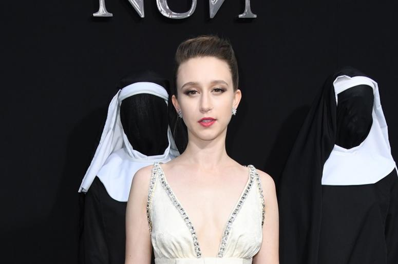 "04 September 2018 - Hollywood, California - Taissa Farmiga. ""The Nun"" Los Angeles Premiere held at TCL Chinese Theatre"
