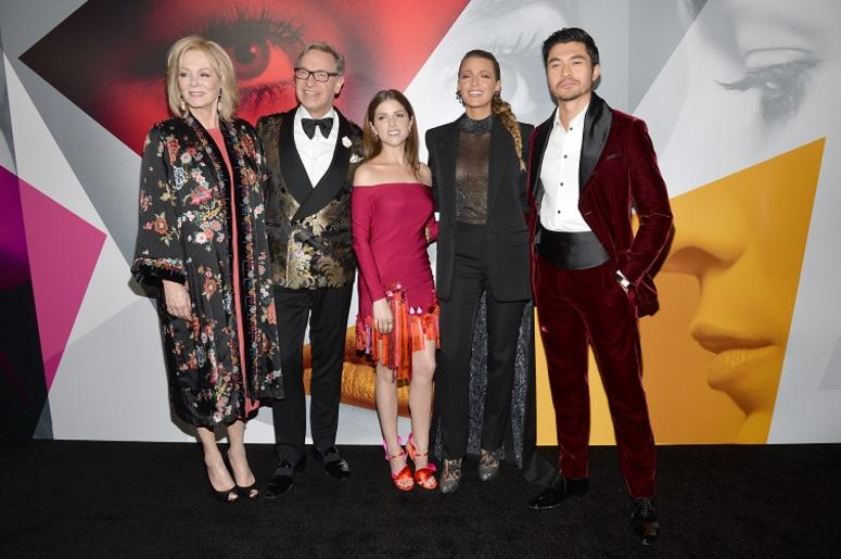 """(L-R) Jean Smart, director Paul Feig, Anna Kendrick, Blake Lively and Henry Golding attend the """"Simple Favor"""" World Premiere at the MoMA in New York, NY, on September 10, 2018"""
