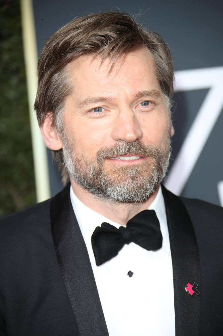 Jan 7, 2018; Beverly Hills, CA, USA; Nikolaj Coster-Waldau arrives for the 75th Golden Globe Awards at the Beverly Hilton.