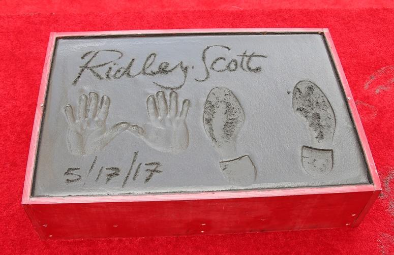 17 May 2017 - Hollywood, California - Sir Ridley Scott. Sir Ridley Scott Hand And Footprint Ceremony.