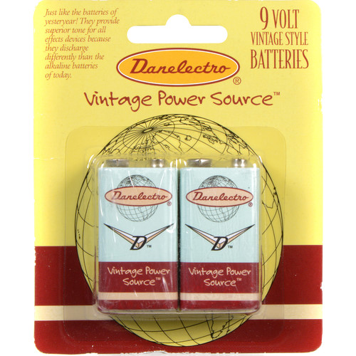 DANELECTRO 9 V BATTERIES 2-PK.
