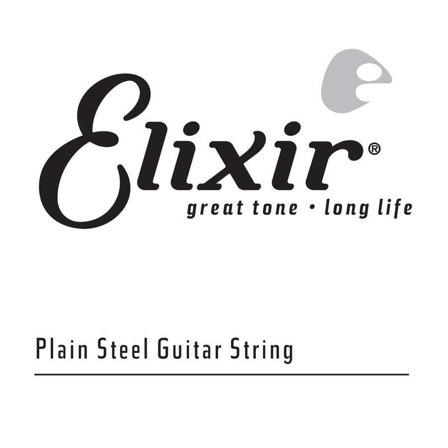 4pk Elixir Plain Steel .014   Anti-Rust Treated
