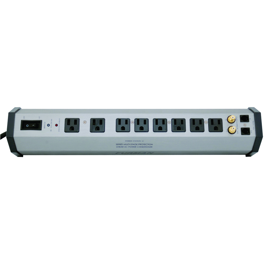 (ea)8-OUTLET POWER CENTER ALUM
