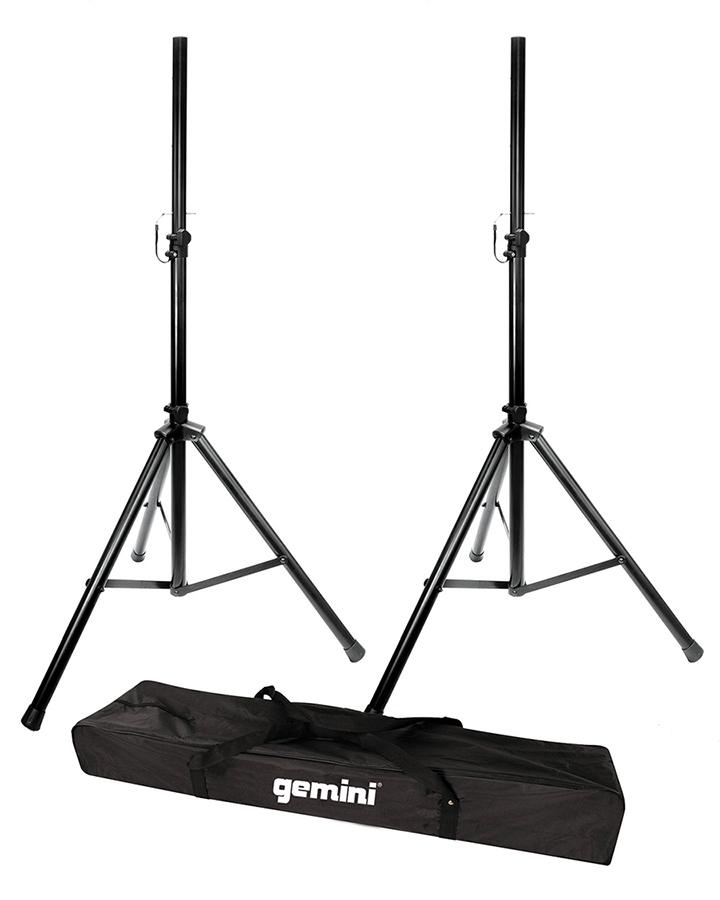 2 speaker stands w case       2 speaker stands w case