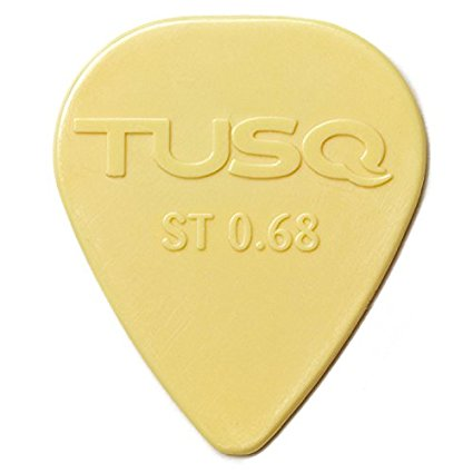 TUSQ PICKS 0.68MM WHITE 6 PACK