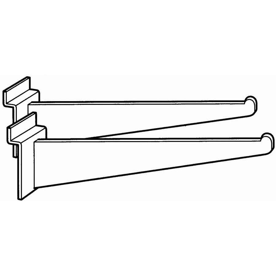 (Pr)SHELF BRACKET 12 BLK PAIR
