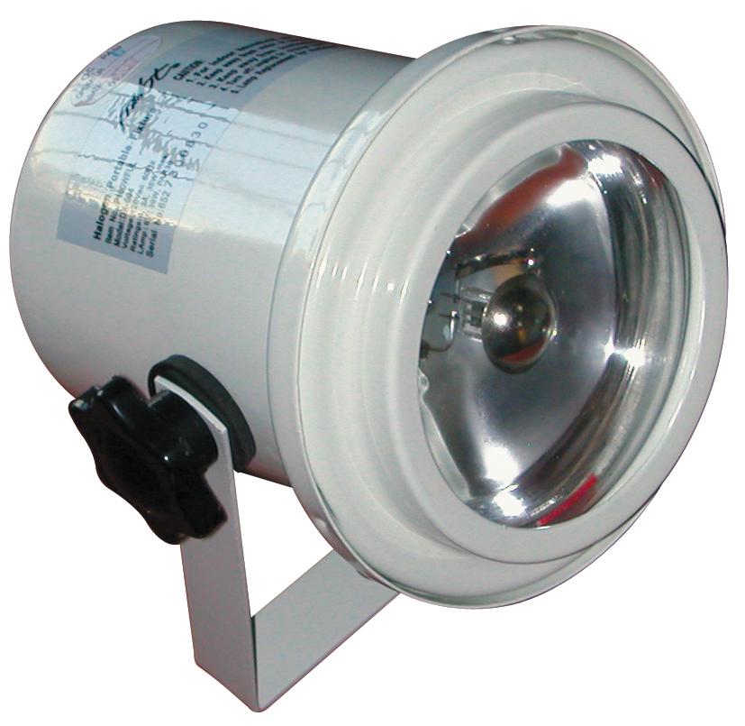 PINSPOT W/4515 LAMP WHITE U.L.