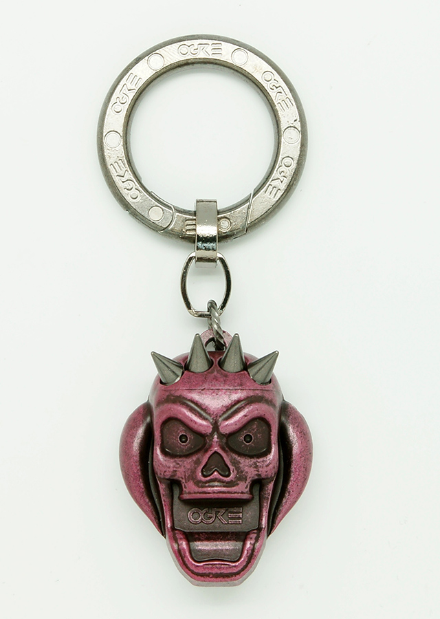 Ogre Pick Holder Keychain Red