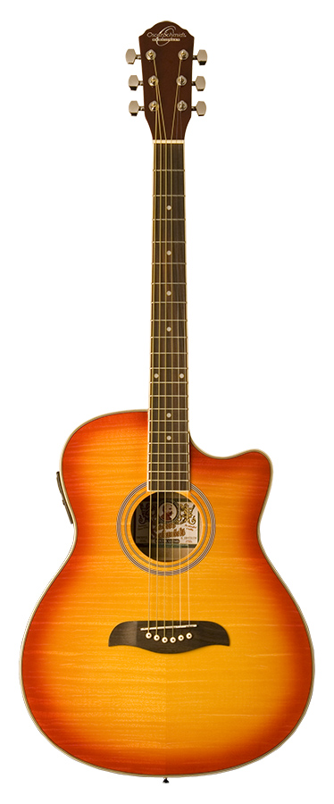 Auditorium Acoustic Electric  W/EV-T Cherry Sunburst