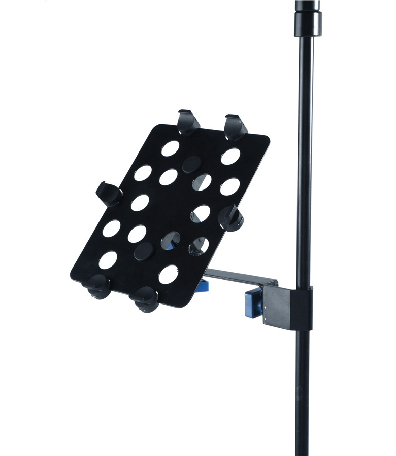 iPad holder for side connectiomic & music stands
