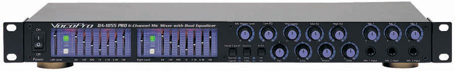 (ea)6-MIC MIXER W/EQ AND ECHO
