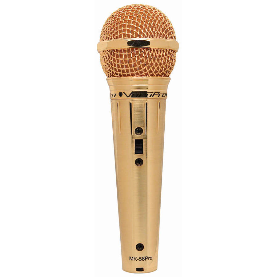GOLD VOCAL MIC W/CABLE CASE