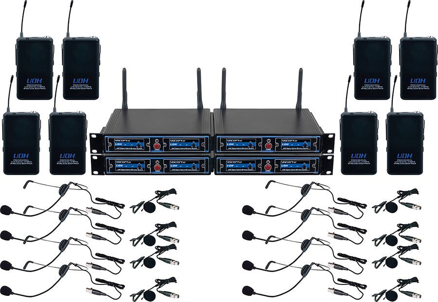 8- UHF/DSP WIRELESS MIC       8- UHF/DSP WIRELESS MIC