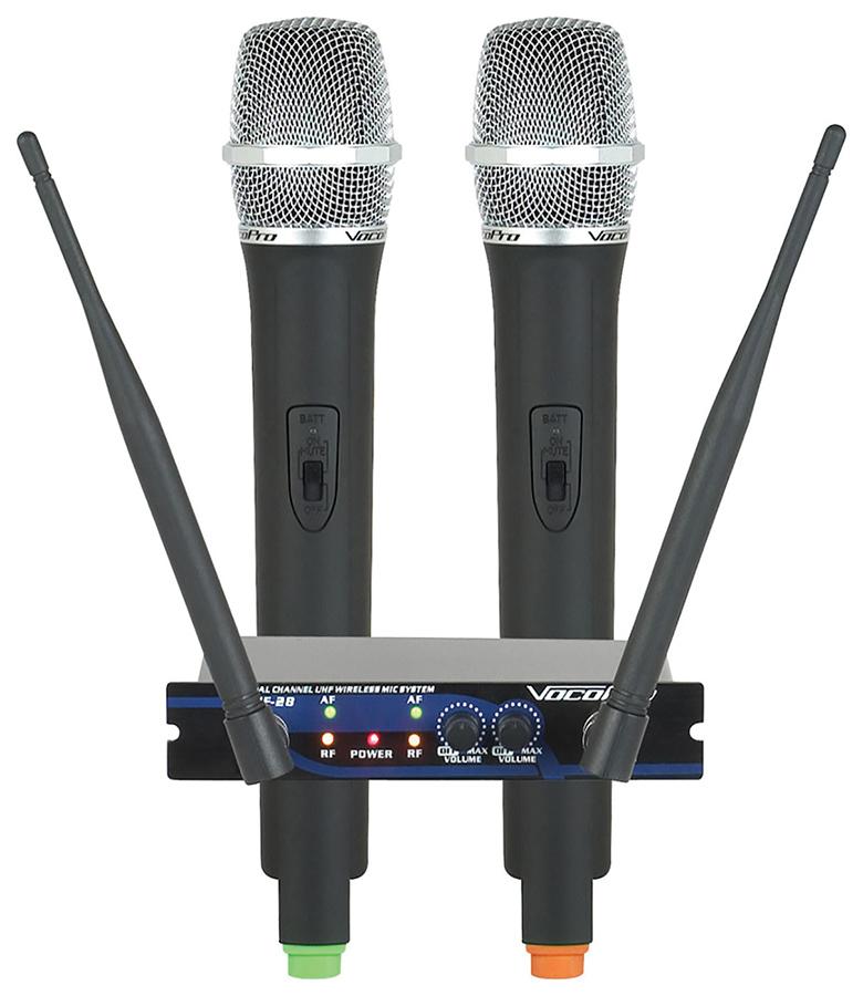 (ea)DUAL CH UHF WRLS SYS