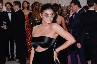 Kylie Jenner walking the red carpet at The Metropolitan Museum of Art Costume Institute Benefit celebrating the opening of Heavenly Bodies : Fashion and the Catholic Imagination held at The Metropolitan Museum of Art in New York, NY, on May 7, 2018.