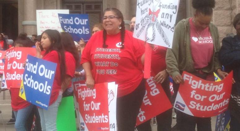 Texas Teachers Rally In Austin