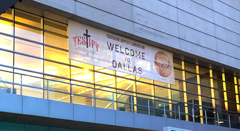The Southern Baptist Convention's annual meetings have started in Dallas.