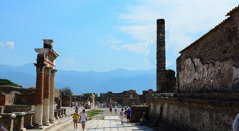 ancient buried city of Pompeii