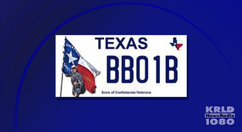 Texas Confederate Plate