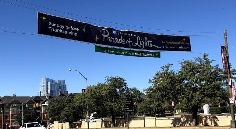 Fort Worth Parade Of Lights Banner